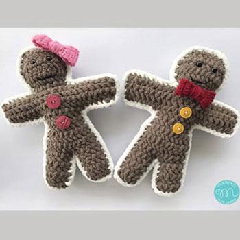 Mézeskalács kisfiú és kislány (ingyenes videó horgolásminta)