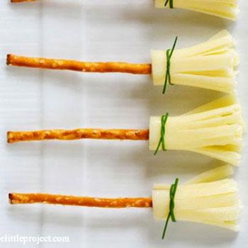 Ehető seprűk - sajtból és ropiból