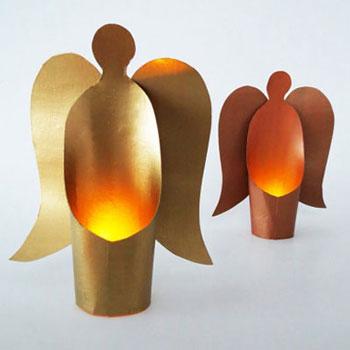 Egyszerű papír angyalka lámpások (ledes teamécseshez)