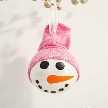 Easy Diy Snowman Christmas Ornament With Sock Hat Mindy