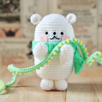 Easy kawaii crochet polar bear - free amigurumi pattern