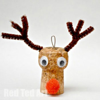 Parafadugó rénszarvas Rudolf karácsonyfadísz - ötlet gyerekeknek