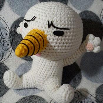 Plue (FairyTail) hóember amigurumi figura - ingyenes minta
