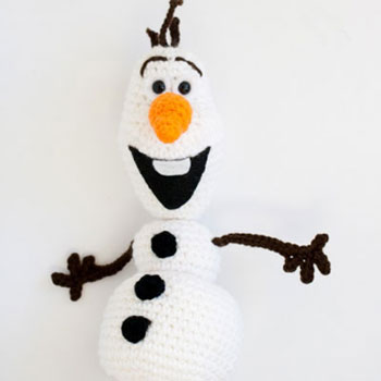 Horgolt Olaf - amigurumi hóember minta (ingyenes horgolásminta)