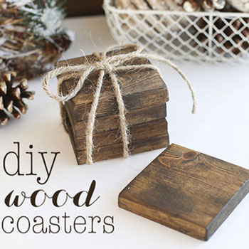 DIY Rustic wood coasters - gift idea