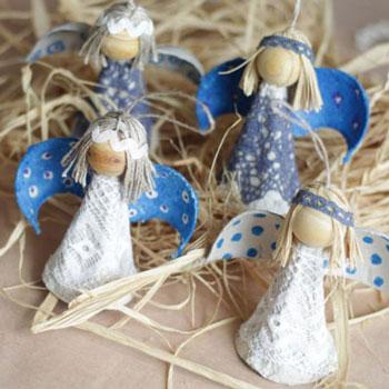 Egyszerű tojástartó angyalka - kreatív ötlet gyerekeknek