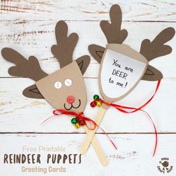 Rudolf rénszarvas papír báb  - ötlet gyerekeknek