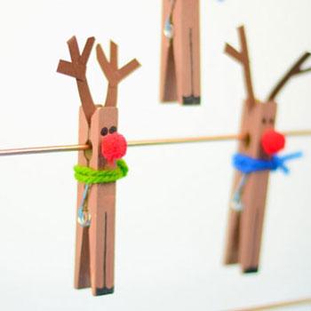 Csipesz rénszarvas - egyszerű kreatív ötlet gyerekeknek