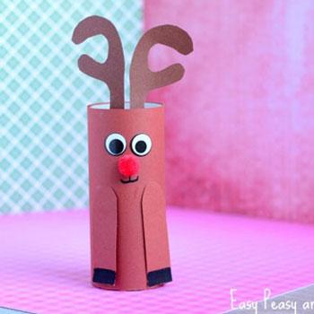 Wc papír guriga rénszarvas Rudolf - ötlet gyerekeknek