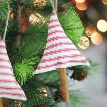 Egyszerű karácsonyfa alakú illatosító  ( karácsonyfadísz ) - szabásminta
