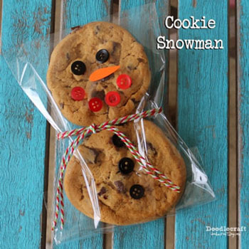 Keksz hóember - kreatív karácsonyi gasztroajándék