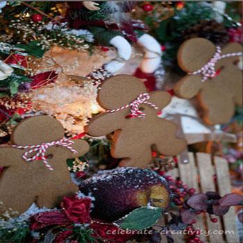 Mézeskalács figura füzér - ehető karácsonyi ajándék