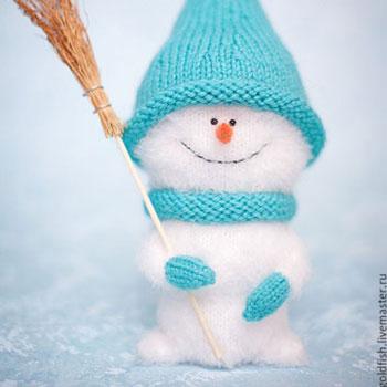 Amigurumi hóember szempilla fonalból (orosz horgolásminta)