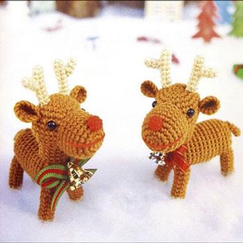 Horgolt karácsonyi rénszarvas figura (ingyenes amigurumi minta)