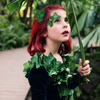 DIY Poison Ivy costume - Halloween costume for girls