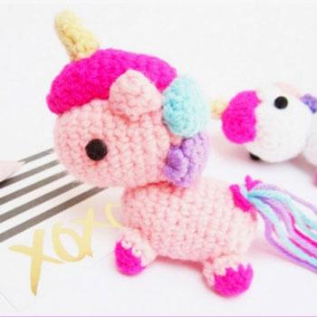 Miniature Amigurumi Unicorn Key Chainfree Crochet Pattern Mindy