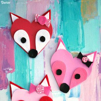 Szív róka - kreatív (Valentin napi) ötlet gyerekeknek