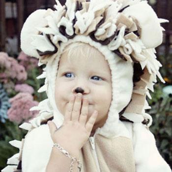 Aranyos süni jelmez filcből - farsangi jelmez gyerekeknek