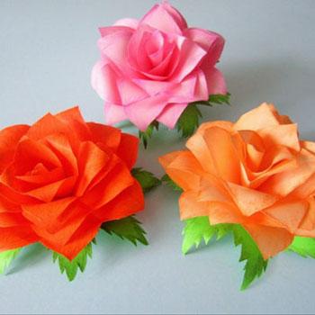 Gyönyörű papír rózsák egyszerűen post-it jegyzettömb lapokból