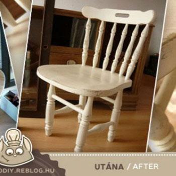 Antikolás (öregítés) visszacsiszolással - bútorfestés tipp
