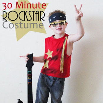 Easy & quick DIY rockstar costume - Halloween costume idea