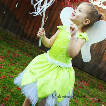 DIY Tinkerbell costume for kids (sewing tutorial)