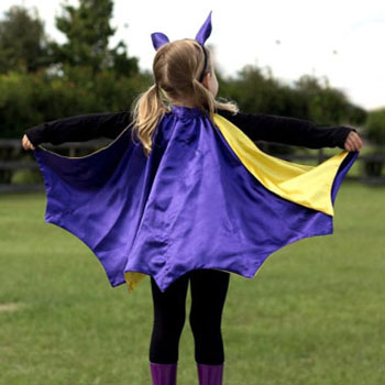 DIY Bat costume for kids - wing & ears (free sewing pattern)