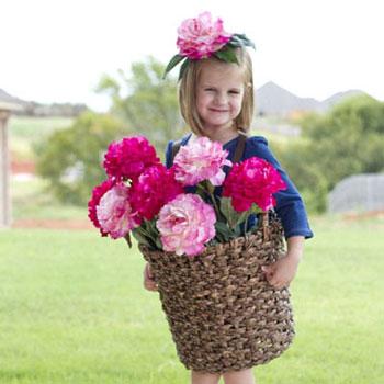 Virágkosár jelmez lányoknak egyszerűen - varrási útmutató