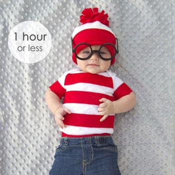 Egyszerű Waldo jelmez gyerekeknek (Vili Világa)