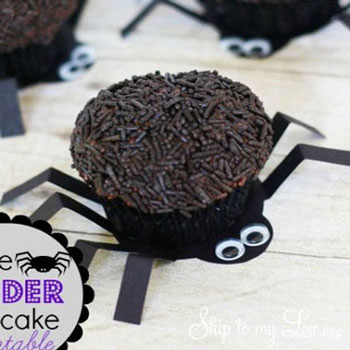 Pók muffinok / sütemények (nyomtatható mintaívvel)