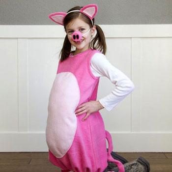 Malac jelmez gyerekeknek filcből - varrási útmutató