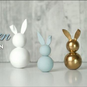 Golyó nyuszi - egyszerű húsvéti dekoráció házilag