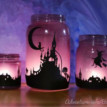 Varázslatos lámpások - befőttes üvegből