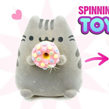 DIY Spinning Pusheen toy with a fidget spinners