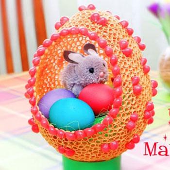 Óriás húsvéti tojás száraztésztából (száraztészta tojás)