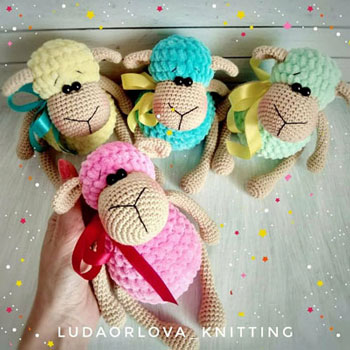 Crochet (amigurumi) sheep toy - free amigurumi pattern