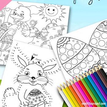 Húsvéti színezők / foglalkoztatók gyerekeknek