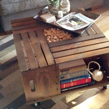 DIY Vintage wine crate coffee table - woodworking