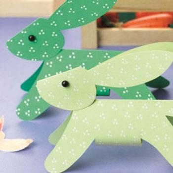 Egyszerű papír nyuszi nyomtatható sablonnal - húsvéti ötlet gyerekeknek