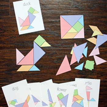 Forma kirakó játék papírból egyszerűen - tangram (nyomtatható)