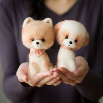 Fluffy crochet ( amigurumi ) dog - free crochet pattern