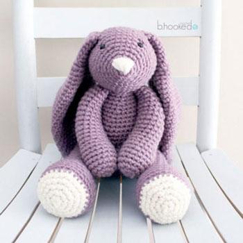 Big Purple Crochet Bunny Amigurumi Bunny Free Crochet Pattern