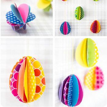 3D tojások egyszerűen papírból