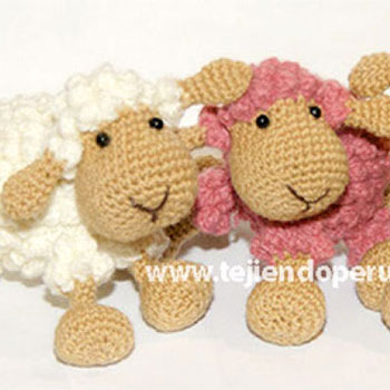 Little popcorn stich sheep - free amigurumi pattern & video tutorial