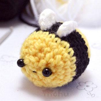 Egyszerű cuki amigurumi méhecske - ingyenes horgolásminta
