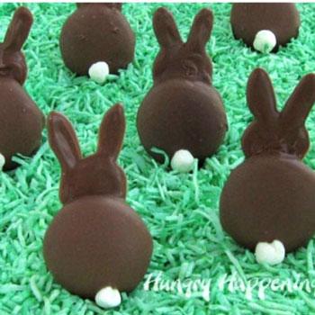 Csokival bevont piskóta tallér nyuszi - húsvéti édesség