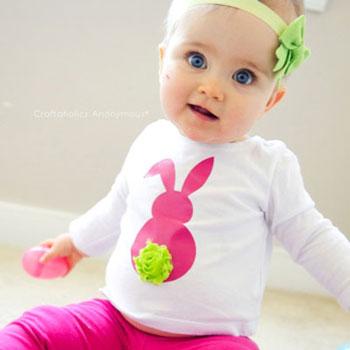 Húsvéti nyuszis póló pompon farokkal egyszerűen