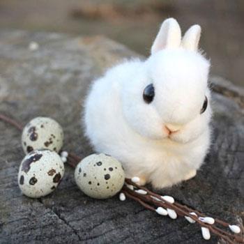 Élethű plüss nyuszi - húsvéti dekoráció (ingyenes szabásminta)