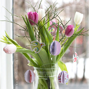 Egyszerű kicsi térbeli papír tojás - húsvéti dekoráció papírból