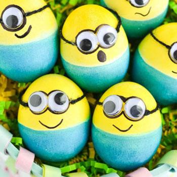 Minyon ( Minion ) húsvét tojás - tojásfestés gyerekeknek